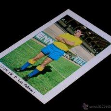 Cromos de Fútbol: CROMO LEÓN U.D. LAS PALMAS. ALBUM FÚTBOL LIGA FHER, 70 71 / 1970 1971. SIN PEGAR.. Lote 172106812