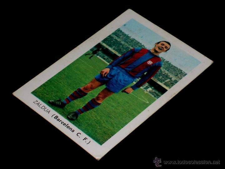 CROMO ZALDUA BARCELONA C.F. ALBUM FÚTBOL LIGA FHER, 70 71 / 1970 1971. SIN PEGAR. (Coleccionismo Deportivo - Álbumes y Cromos de Deportes - Cromos de Fútbol)