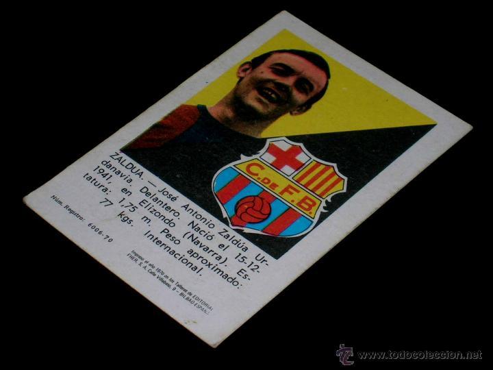 Cromos de Fútbol: Cromo Zaldua Barcelona C.F. Album Fútbol Liga Fher, 70 71 / 1970 1971. Sin pegar. - Foto 2 - 252912430
