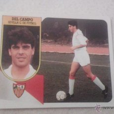 Cromos de Fútbol: 91/92 ESTE. DEL CAMPO COLOCA SEVILLA NUNCA PEGADO VERSION ADHESIVO NO CARTON MUY DIFICIL . Lote 53846619