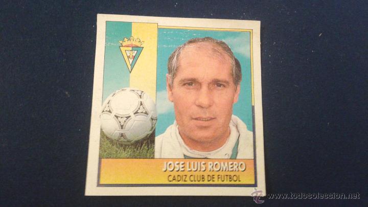 92-93 ESTE. COLOCA CADIZ JOSE LUIS ROMERO (Coleccionismo Deportivo - Álbumes y Cromos de Deportes - Cromos de Fútbol)