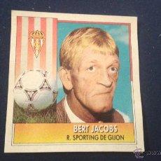 Cromos de Fútbol: 92-93 ESTE. BERT JACOBS SPORTIN GIJON. Lote 54016747