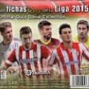 Cromos de Fútbol: CAJA COMPLETA TRADING CARDS FICHAS QUIZ LIGA 2015 - 50 SOBRES, MUNDICROMO (NUEVA). Lote 54279757