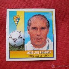Cromos de Fútbol: CADIZ ENTRENADOR ROMERO COLOCA EDICIONES ESTE 1992 1993 92 93 DESPEGADO. Lote 54316994