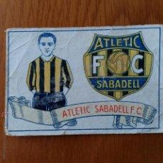Cromos de Fútbol: CROMO FUTBOL CHOCOLATES AMATLLER 1929. ATLETIC SABADELL F C. Lote 54383378