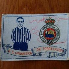 Cromos de Fútbol: CROMO FUTBOL CHOCOLATES AMATLLER 1929. R S GIMANASTICA DE TORRELAVEGA. Lote 54383677
