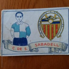 Cromos de Fútbol: CROMO FUTBOL CHOCOLATES AMATLLER 1929. C DE S SABADELL. Lote 54383716