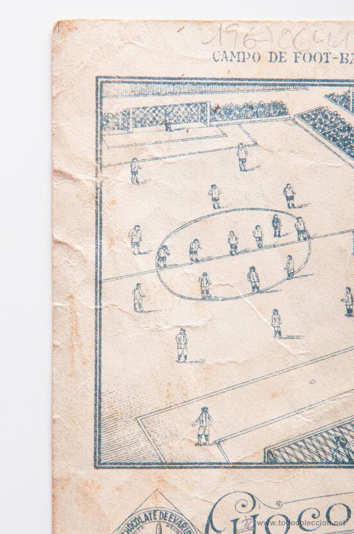 Cromos de Fútbol: CROMO FUTBOL DE MEANA, REAL SPORTING DE GIJON, PARTE TRASERA CAMPO DE FOOT-BALL - Foto 3 - 54421201