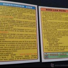 Cromos de Fútbol: SUPERCOMODIN 2005 - BONO LIGA 95 96 1995 1996 - MUNDICROMO FICHAS LIGA 2005. Lote 54432565