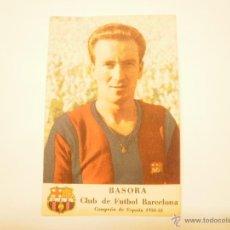 Cromos de Fútbol: CROMO BARÇA LIGA 1950-51. BASORA. PRIMER GRAN CONCURSO CASTELLBLANCH. Lote 54473048
