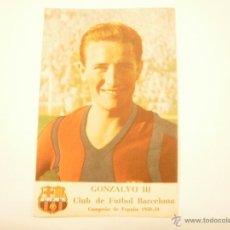 Cromos de Fútbol: CROMO BARÇA LIGA 1950-51. GONZALVO III. PRIMER GRAN CONCURSO CASTELLBLANCH. Lote 54473363