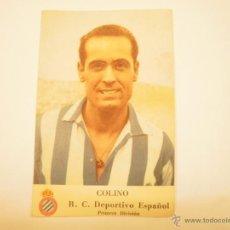 Cromos de Fútbol: CROMO C. D. ESPAÑOL LIGA 1950-51. COLINO. PRIMER GRAN CONCURSO CASTELLBLANCH. Lote 54473725