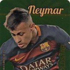 Cromos de Fútbol: #30/45 NEYMAR BARCELONA GOLDSTAR DORADO LIMITED EDITION 2015 2016 MUNDICROMO 15 16. Lote 54552766
