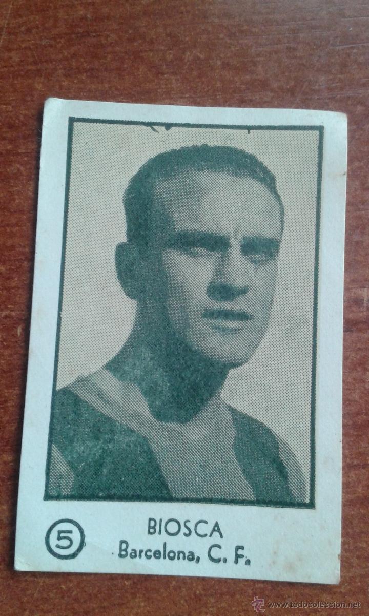 CROMO BIOSCA BARCELONA TEMPORADA 1954 - 1955 54 - 55 (Coleccionismo Deportivo - Álbumes y Cromos de Deportes - Cromos de Fútbol)