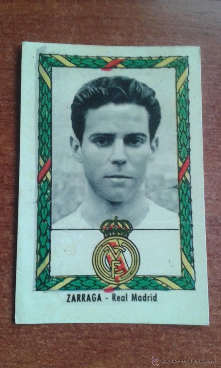 CROMO ZARRAGA REAL MADRID AÑOS 50 (Coleccionismo Deportivo - Álbumes y Cromos de Deportes - Cromos de Fútbol)
