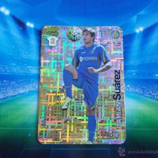 Cromos de Fútbol: 583 DAMIAN SUAREZ GETAFE TOP BRILLO TETRIS METALCARDS CROMO MUNDICROMO LIGA FUTBOL 2015 2016 15 16. Lote 295858693