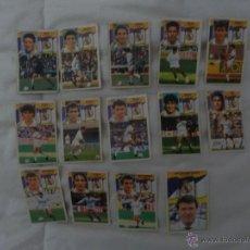 Cromos de Fútbol: LOTE 14 CROMOS DEL REAL MADRID. EDICIONES ESTE. TEMPORADA 90-91. Lote 54909225