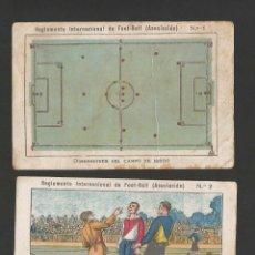 Cromos de Fútbol: REGLAMENTO INTERNACIONAL DE FOOTBALL ASOCIACION- COL. COMPLETA 20 CROMOS - MIDEN 7 X 11 CM- (V-4660). Lote 54931723