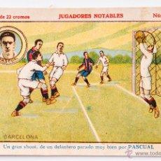 Cromos de Fútbol: CROMO FUTBOL PASCUAL Nº 11 - JUGADORES NOTABLES. Lote 55001609
