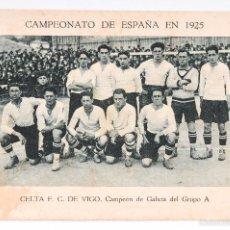 Cromos de Fútbol: CROMO FUTBOL CAMPEONATO DE ESPAÑA 1925 - CELTA F.C. DE VIGO - Nº 8. Lote 55099167