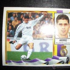 Cromos de Fútbol: HIERRO DEL REAL MADRID ALBUM ESTE LIGA 1995 - 1996 ( 95 - 96 ). Lote 269460928