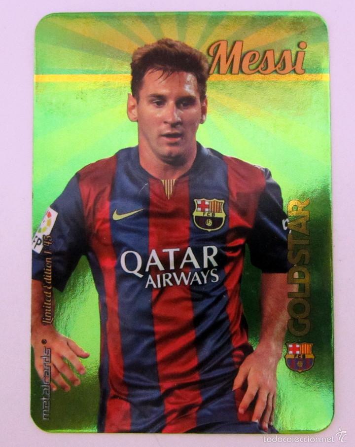 b731248a4b5 MUNDICROMO 2016 LEO MESSI F.C. BARCELONA METALCARDS LIMITED EDITION 1 45  (Coleccionismo Deportivo -