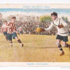 Cromos de Fútbol: CROMO JUEGO DE FOOT-BALL - JUGADAS INTERESANTES -ZAMORA- ATLETIC DE BILBAO - R.C.D.ESPAÑOL - Nº 10. Lote 55162006