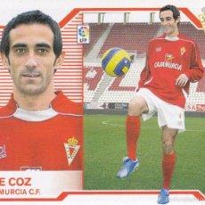 Cromos de Fútbol: ESTE 2007 2008.- DE COZ (MERCADO INVIERNO) - R MURCIA CF. NUEVO SIN PEGAR . Lote 55201757