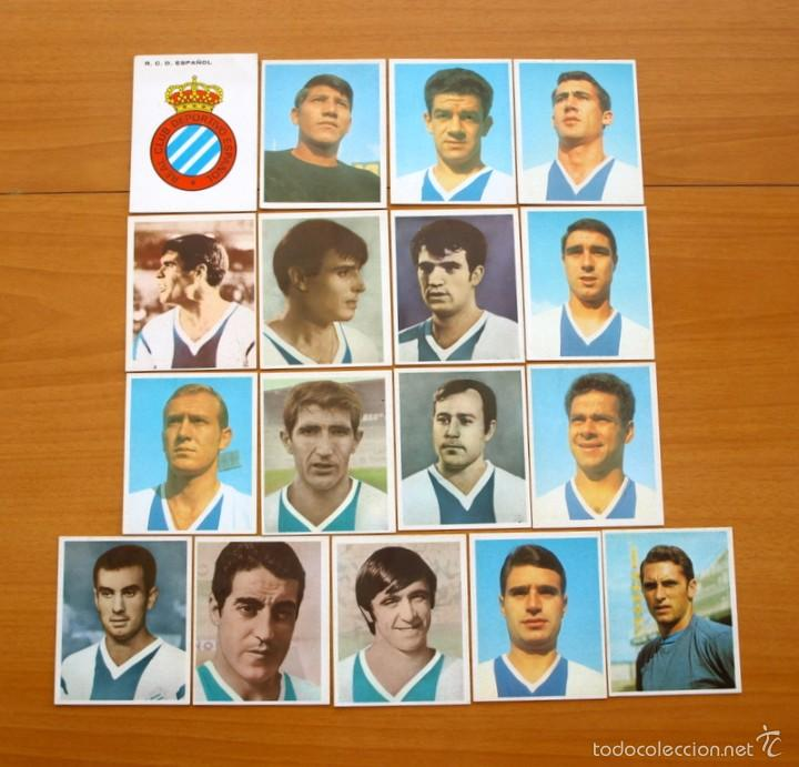 R.C.D. ESPAÑOL - COMPLETO 17 CROMOS - EDITORIAL BRUGUERA CAMPEONES 1968-1969, 68-69 - NUNCA PEGADOS (Coleccionismo Deportivo - Álbumes y Cromos de Deportes - Cromos de Fútbol)