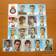 Cromos de Fútbol: R.C.D. ESPAÑOL - COMPLETO 17 CROMOS - EDITORIAL BRUGUERA CAMPEONES 1968-1969, 68-69 - NUNCA PEGADOS. Lote 55331491
