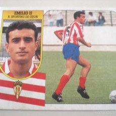 Cromos de Fútbol: EMILIO II – (FICHAJES Nº22) ESTE 91/92 DIFÍCIL. Lote 55345503