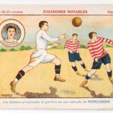 Cromos de Fútbol: CROMO FUTBOL JUGADORES NOTABLES - MONJARDIN- NUMERO 17. Lote 55374411
