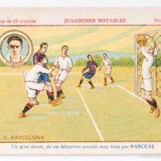 Cromos de Fútbol: CROMO FUTBOL JUGADORES NOTABLES - PASCUAL F.C.BARCELONA- NUMERO 11. Lote 55374673