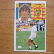 Cromos de Fútbol: CROMO LIGA ESTE 90 91 NANDO (VALENCIA) - NUNCA PEGADO - FUTBOL 1990 1991. Lote 55380564