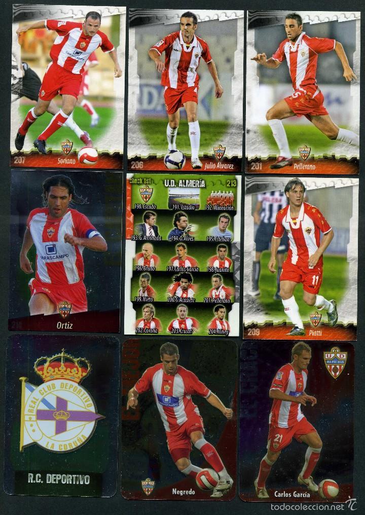 9 FICHAS DIFERENTES DE LA LIGA 2008 09 - COLECCION OFICIAL DE TRADING CARDS DE MUNDI CROMO - LOTE 11 (Coleccionismo Deportivo - Álbumes y Cromos de Deportes - Cromos de Fútbol)