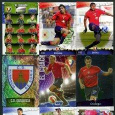 Cromos de Fútbol: 9 FICHAS DIFERENTES DE LA LIGA 2008 09 - COLECCION OFICIAL DE TRADING CARDS DE MUNDI CROMO - LOTE 23. Lote 55869117