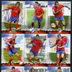 Cromos de Fútbol: 9 FICHAS DIFERENTES DE LA LIGA 2008 09 - COLECCION OFICIAL DE TRADING CARDS DE MUNDI CROMO - LOTE 24. Lote 55869800