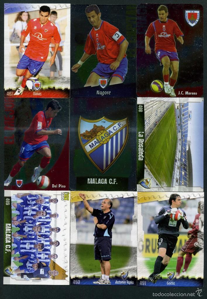 9 FICHAS DIFERENTES DE LA LIGA 2008 09 - COLECCION OFICIAL DE TRADING CARDS DE MUNDI CROMO - LOTE 25 (Coleccionismo Deportivo - Álbumes y Cromos de Deportes - Cromos de Fútbol)
