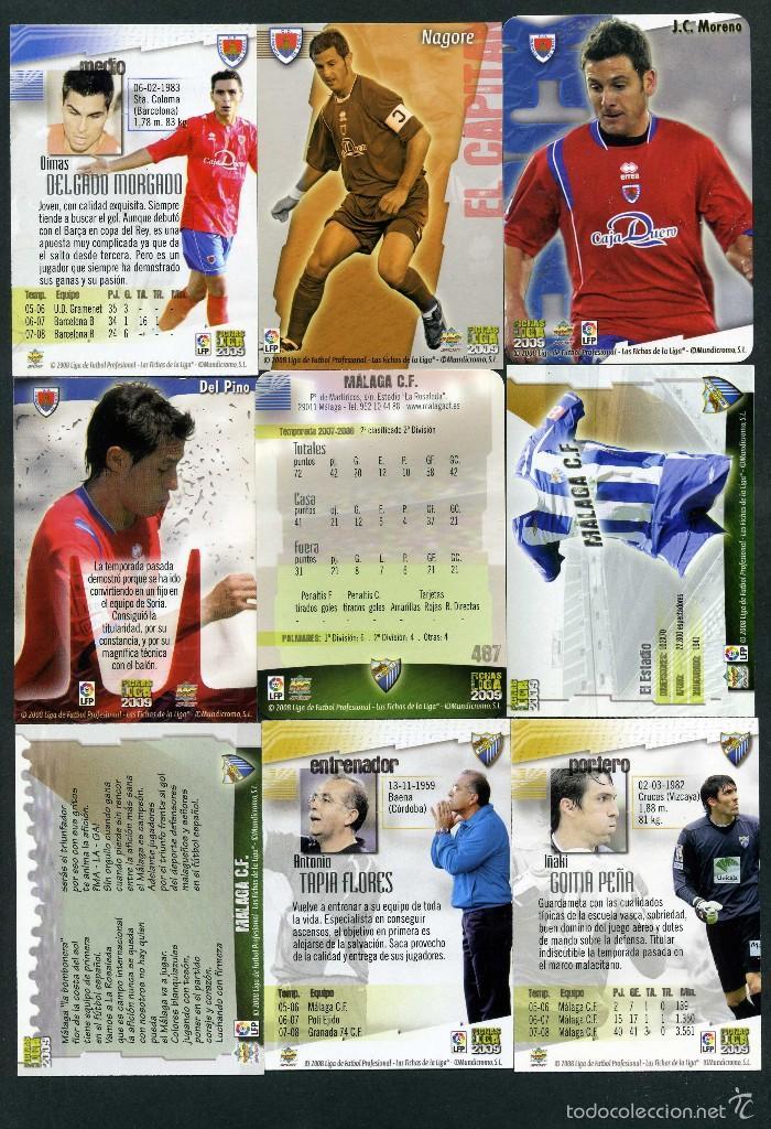 Cromos de Fútbol: 9 FICHAS DIFERENTES DE LA LIGA 2008 09 - COLECCION OFICIAL DE TRADING CARDS DE MUNDI CROMO - LOTE 25 - Foto 2 - 55870071