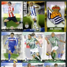 Cromos de Fútbol: 9 FICHAS DIFERENTES DE LA LIGA 2008 09 - COLECCION OFICIAL DE TRADING CARDS DE MUNDI CROMO - LOTE 35. Lote 55880418