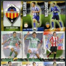 Cromos de Fútbol: 9 FICHAS DIFERENTES DE LA LIGA 2008 09 - COLECCION OFICIAL DE TRADING CARDS DE MUNDI CROMO - LOTE 36. Lote 55881477