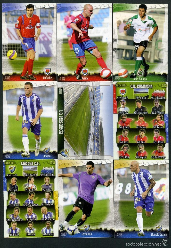 9 FICHAS DIFERENTES DE LA LIGA 2008 09 - COLECCION OFICIAL DE TRADING CARDS DE MUNDI CROMO - LOTE 47 (Coleccionismo Deportivo - Álbumes y Cromos de Deportes - Cromos de Fútbol)