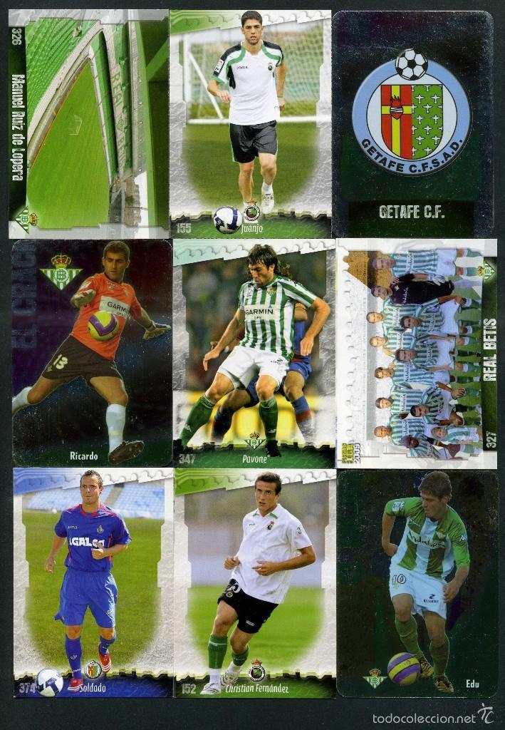 9 FICHAS DIFERENTES DE LA LIGA 2008 09 - COLECCION OFICIAL DE TRADING CARDS DE MUNDI CROMO - LOTE 49 (Coleccionismo Deportivo - Álbumes y Cromos de Deportes - Cromos de Fútbol)