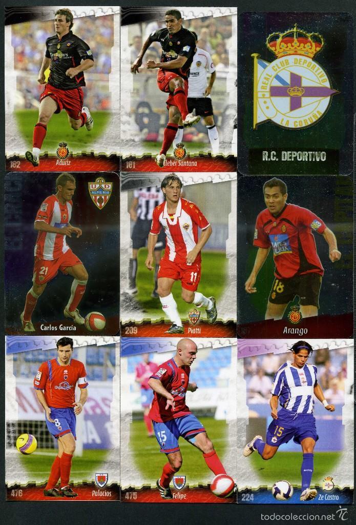 9 FICHAS DIFERENTES DE LA LIGA 2008 09 - COLECCION OFICIAL DE TRADING CARDS DE MUNDI CROMO - LOTE 52 (Coleccionismo Deportivo - Álbumes y Cromos de Deportes - Cromos de Fútbol)