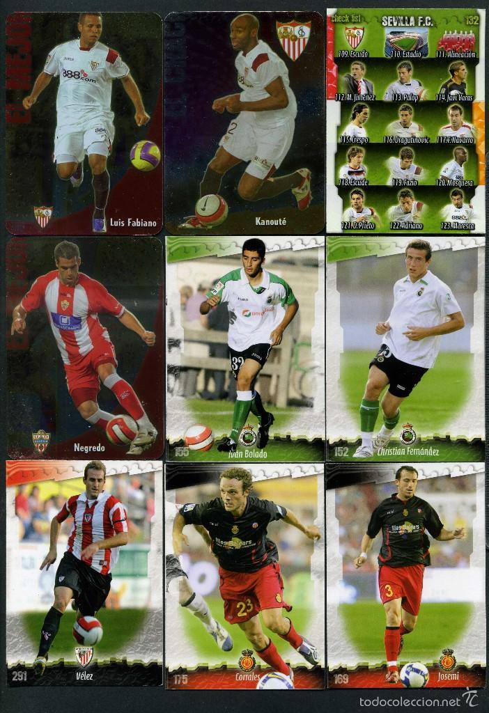 9 FICHAS DIFERENTES DE LA LIGA 2008 09 - COLECCION OFICIAL DE TRADING CARDS DE MUNDI CROMO - LOTE 53 (Coleccionismo Deportivo - Álbumes y Cromos de Deportes - Cromos de Fútbol)
