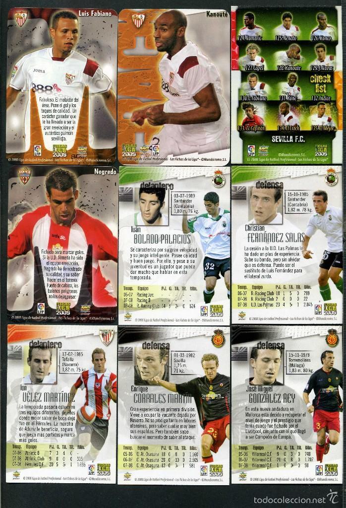 Cromos de Fútbol: 9 FICHAS DIFERENTES DE LA LIGA 2008 09 - COLECCION OFICIAL DE TRADING CARDS DE MUNDI CROMO - LOTE 53 - Foto 2 - 55896984
