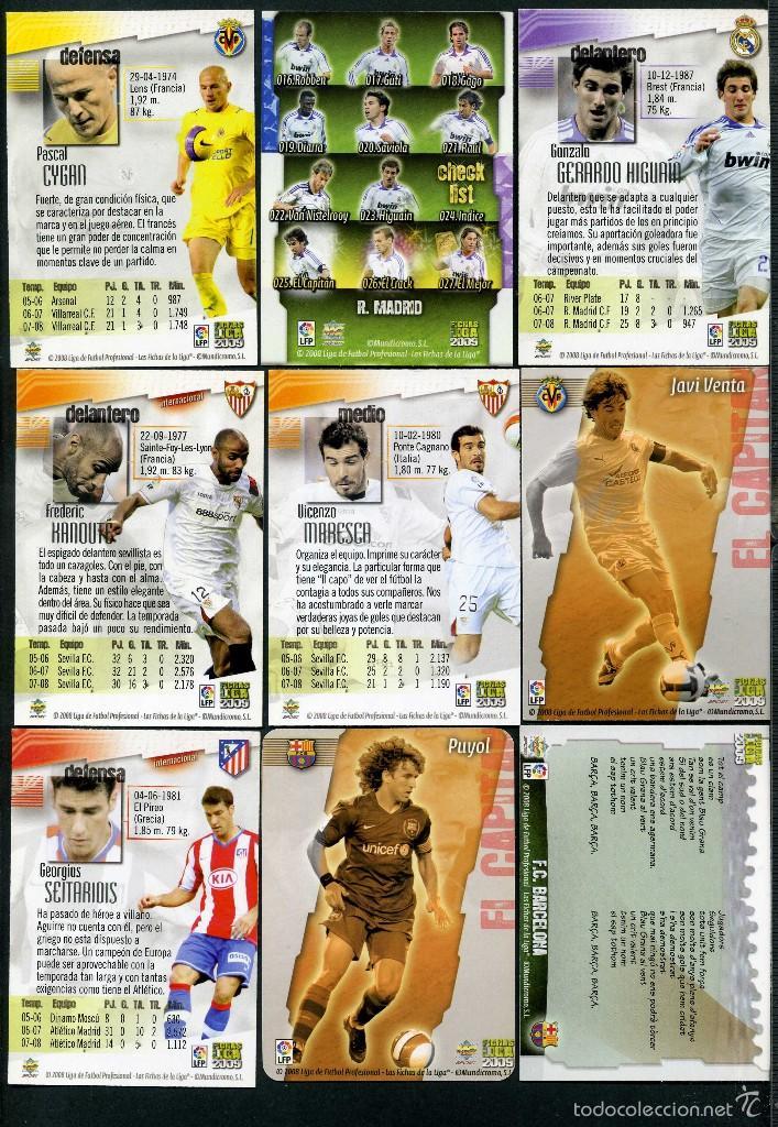 Cromos de Fútbol: 9 FICHAS DIFERENTES DE LA LIGA 2008 09 - COLECCION OFICIAL DE TRADING CARDS DE MUNDI CROMO - LOTE 55 - Foto 2 - 55898360