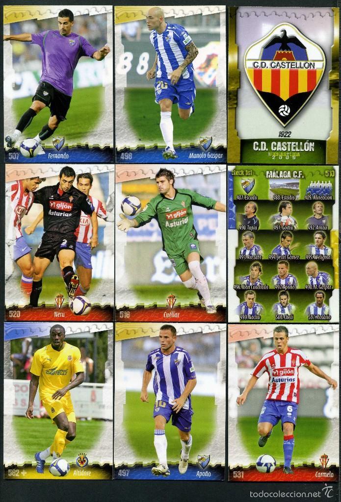 9 FICHAS DIFERENTES DE LA LIGA 2008 09 - COLECCION OFICIAL DE TRADING CARDS DE MUNDI CROMO - LOTE 57 (Coleccionismo Deportivo - Álbumes y Cromos de Deportes - Cromos de Fútbol)