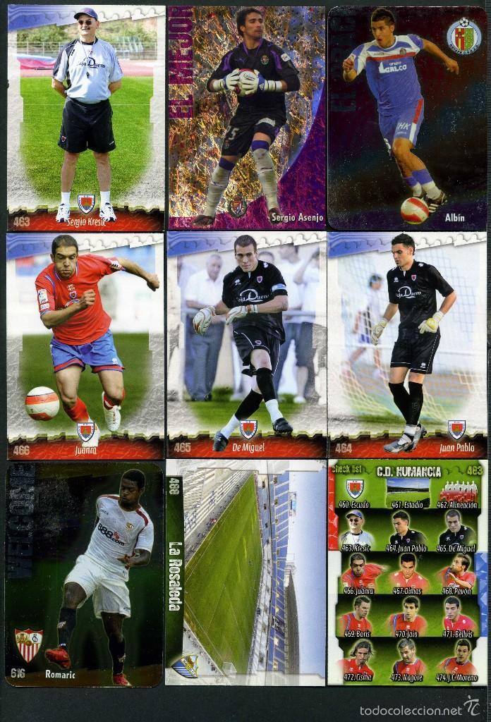9 FICHAS DIFERENTES DE LA LIGA 2008 09 - COLECCION OFICIAL DE TRADING CARDS DE MUNDI CROMO - LOTE 58 (Coleccionismo Deportivo - Álbumes y Cromos de Deportes - Cromos de Fútbol)