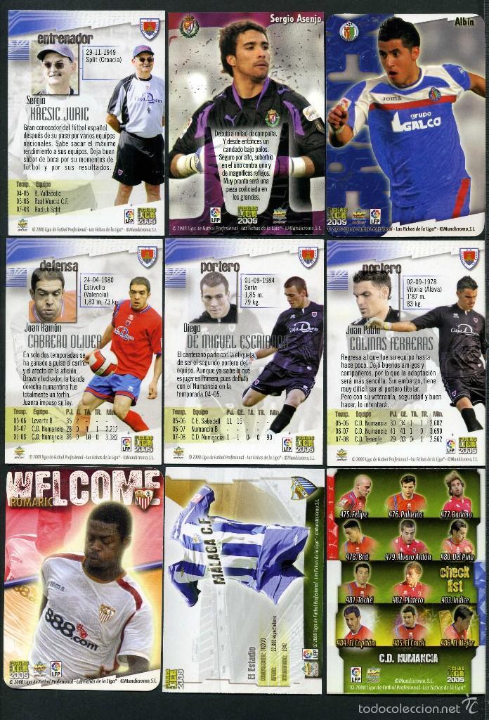 Cromos de Fútbol: 9 FICHAS DIFERENTES DE LA LIGA 2008 09 - COLECCION OFICIAL DE TRADING CARDS DE MUNDI CROMO - LOTE 58 - Foto 2 - 55898990